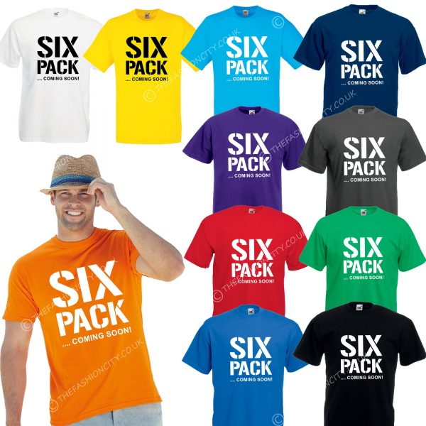 Six Pack Coming Soon T-SHIRT tee bodybuilding weights gym