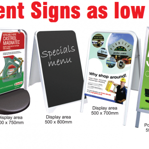 Pavement Signs and A Boards